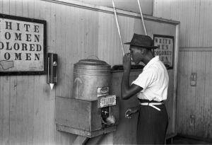 """Colored"" Drinking Fountain, Mid-20th Century"