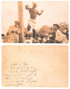Postcard of the Lynched Jesse Washington, Front and Back